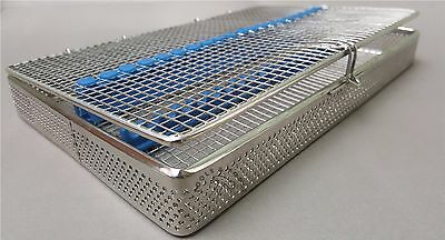 Perforated Mesh Sterilisation Cassette Rack Tray 20 Dental Instruments Autoclave