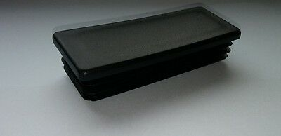 Black Plastic Rectangular End Caps Insterts Selection List Widht from 50 - 120