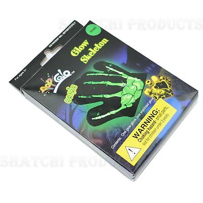 1pcs Glow In Dark Glove Skeleton Neon Glove Halloween Fancy Dress Accessories