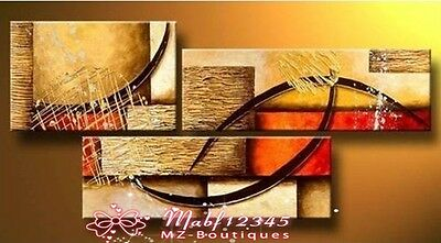 YH257 3pcs Hand painted Oil Canvas Wall Art Home Decor Modern abstract NO Frame
