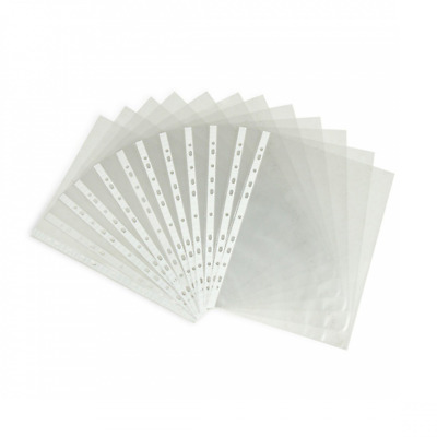 AUCH 100 Sheets Clear Non Glare Loose Leaf A4 Paper File Letter Sheet Protectors