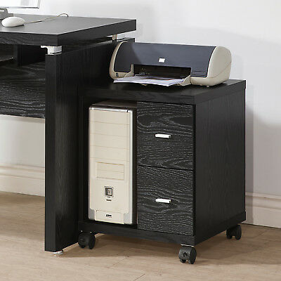 Coaster Black 2 Drawer Computer Stand In Black Finish 800822