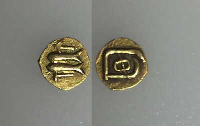 AC#46 Ancient Uncertain Rare Tiny Gold Coin  0.4g 7mm VF-XF