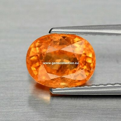 AAA Natural Spessartite Garnet CT 1.81 STUNNING OVAL CUT ORIGIN NAMIBIA AFRICA