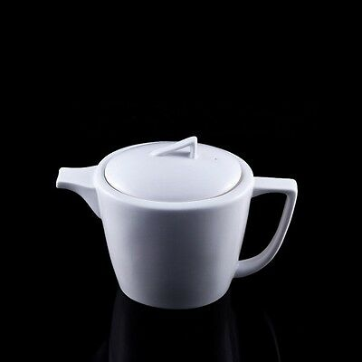 White Bone China Cup Teapot
