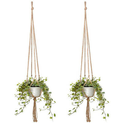 2pcs Plant Flower Hanger Jute Net Macrame for Wall Hanging Plant Ceiling