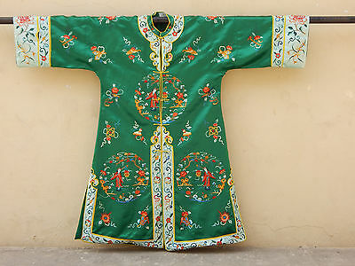 Antique Chinese Silk Hand Embroidered Robe (X292)
