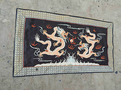 Antique Chinese Hand Embroidery Silk Wall Hanging Tapestry/Panel 79X45cm (X137)