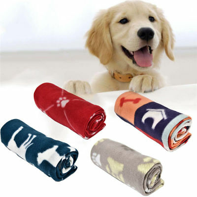 Dog Cat Pet Warm Fleece Blanket Puppy Bed Soft Mat Colorful Seat Cover  60*70cm