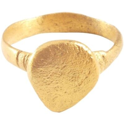 ANCIENT VIKING WARRIOR'S HEART RING 850-1000 AD Size 9 ½ 19.6mm (JNS374)
