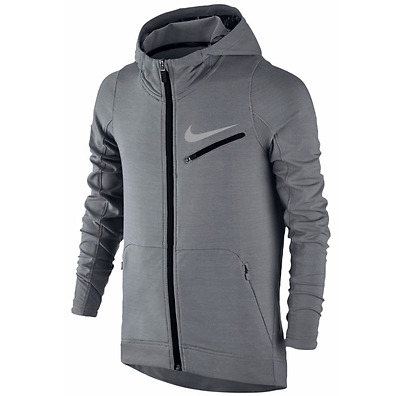 Nike Big Boys Dri Fit Hyper Elite Hoodie Full Zip Gray Size M XL New