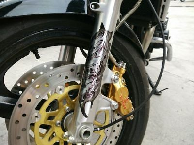 For Harley Front Fork Skull Decals Universal Fit Honda Kawasaki Graphic Stickers