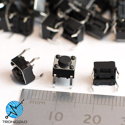 SWITCH Small Push Button tactile momentary action  6x6mm SPST