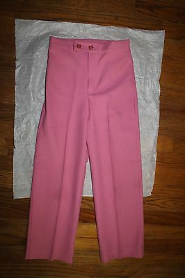 NOS 1970s Girls' Pink Trousers Pants Size 8 Eight