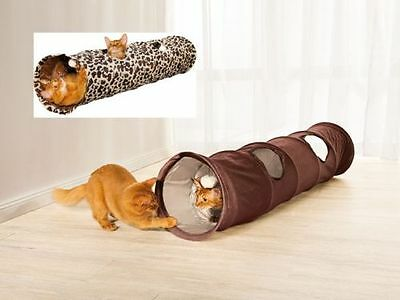 Large Cat tunnel  4 entrances two toy balls mounted inside Cats Toys Play Kitten