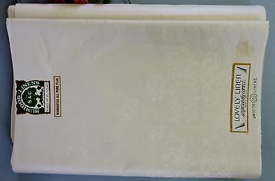 Vintage Irish double damask uncut dinner Tablecloth