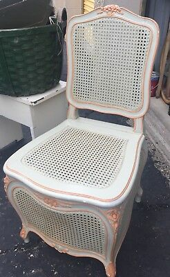 Vintage French Caned Commode