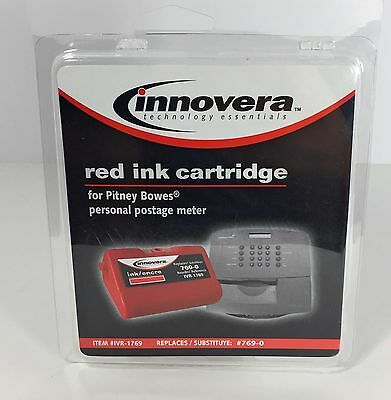 Innovera Red Ink Cartridge Pitney Bowes Personal Postage Meter Replaces #769-0