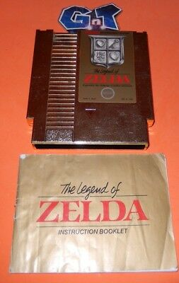 LEGEND OF ZELDA w/ Manual Gold Nintendo NES Game Cartridge: Cleaned/ Tested