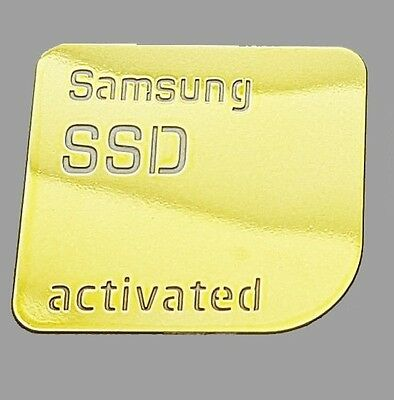 1x GOLD Samsung SSD Activated Metallic Stickers Chrome 7 vinyl 10 8 Windows