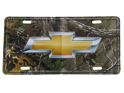 "Chevy Chevrolet Camo Camouflage Realtree 6""x12"" Aluminum License Plate Tag"