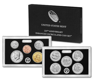 2017 225th Anniversary Enhanced Uncirculated Coin Set Mint Fresh Combined Ship
