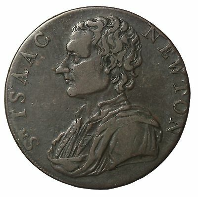 1793 Great Britain Middlesex Isaac Newton Halfpenny Conder Token D&H-1033