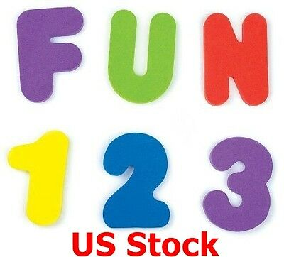 Letters(A-Z) And Numbers(0-9) Bath Toys Floating Foam Is Soft, 36 Count New