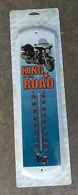 motorcycle bike biker thermometer sign advertising,garage wall bike ride rally