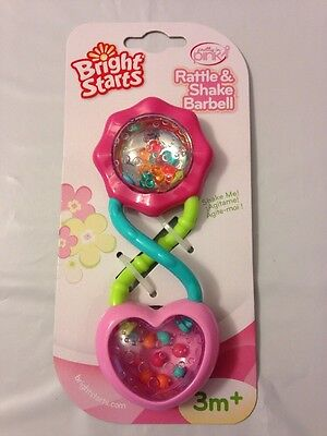 Baby Rattle Bright Starts Pink  3+ M