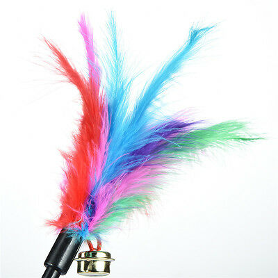 Colourful Cat Feather Teaser Toy with Bell Fun & Exercise for Cats & Kittens