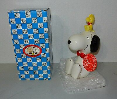 1990 Charles Schulz Peanuts 40th Anniversary Collector's Bank NIB Snoopy NICE!