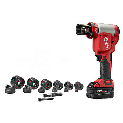 Milwaukee 2676-22 FORCELOGIC M18 Cordless 10-Ton Knockout Tool 1/2 - 2 Inch Kit
