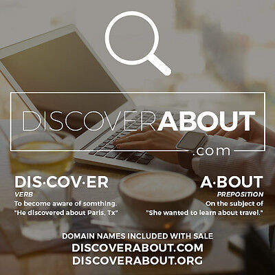 Domain Name – Travel, Marketing, Information – DiscoverAbout.com