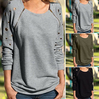 NEW Fashion Punk style Women Ladies T-shirt Long Sleeve Blouse Casual Shirt Tops