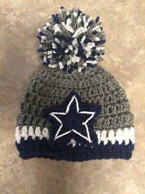 Crochet Newborn 3 Month Dallas Cowboys Hat Photo Prop Baby