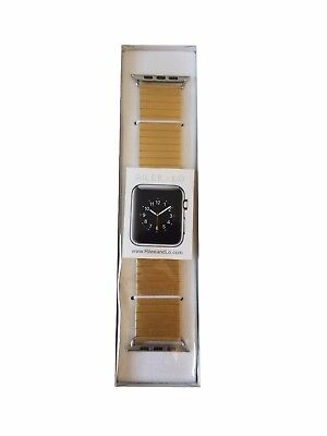 Rilee & Lo - Stainless Steel Small Watch Strap for Apple Watch 42mm Gold Yellow