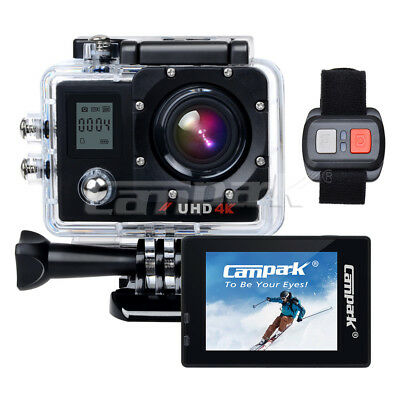 Campark ACT76 HD 4K/30fps WiFi Sports Action Camera DVR Camcorder Remote Control