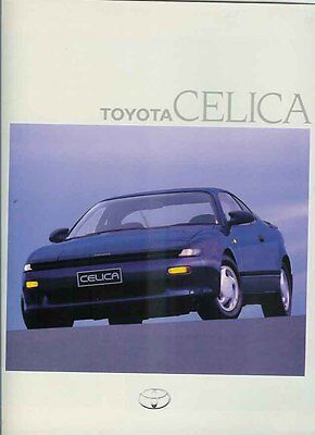 1990 TOYOTA ST184 CELICA Large Format Japanese Brochure in English - Australian