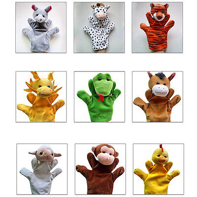 Animal Wildlife Hand Glove Puppets Soft Plush Kids Children Cute Toy 12 Styles