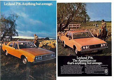 Two 1973 LEYLAND P76 Brochures 4 Page & 2 Page Sheet - Anything but Average!