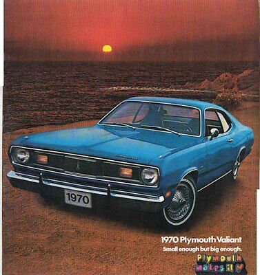 1971 PLYMOUTH GOLD DUSTER US 4 Page Brochure Like VALIANT - $12 24