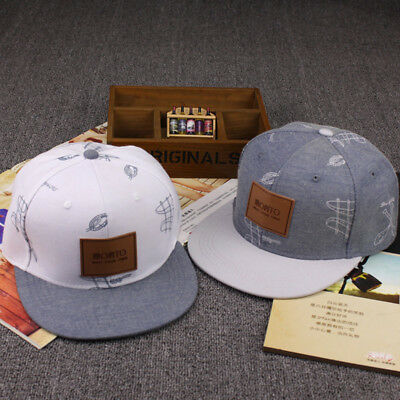 Snapback Full Cap Cool Gray Cap And White Men and Women Solid Mode Neu