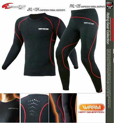 KOMINE Thermal Motorcycle Compression Base Layer Motorbike Under  Shirts & Pants