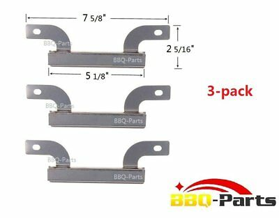 Bbq Gas Grill Stainless Steel Burner Replacement Parts Pack Of 3 Cross Over Set