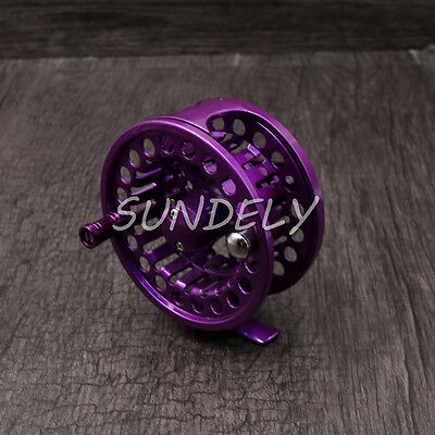 Green aluminum fly fishing reel 5 6 left and right hand for Purple fishing reel