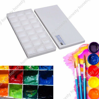 24 Alternatives Painting Tray Artist Oil Watercolor Plastic Paint Palette Supply