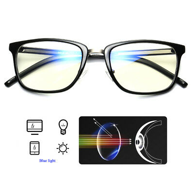 Vintage Blue Light Filter Block UV Transparent Lens Computer Glasses Protect Eye