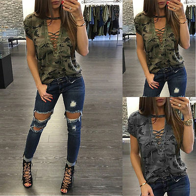 Fashion Women Lady Loose Blouse Casual Shirt Tops T-Shirt Summer Short Sleeve ¥