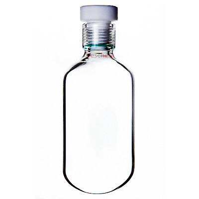 400ml Glass High Pressure Bottle,75*175 Heavy Wall Vessel With #15 PTFE Thred